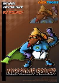 Nicktoons muscular beaver by neweraoutlaw-d5csiey