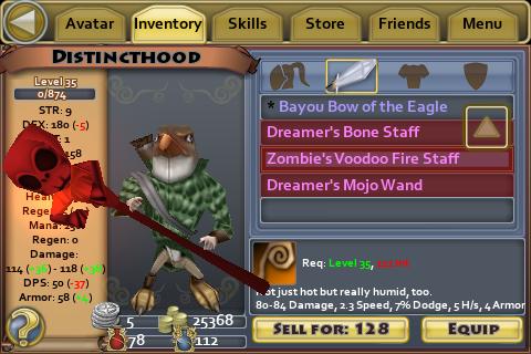 Zombie's Voodoo Fire Staff