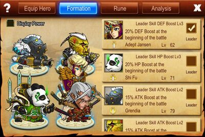 Battle Formation Interface