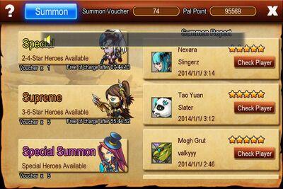 Special Summon Event