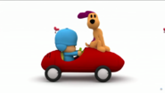 Pocoyo rushing Loula out