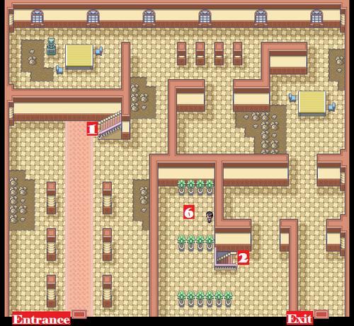 Kanto Pokémon Mansion F1 Map
