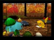 Pikachu follows Bulbasaur's ingrediends for the stew