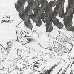 Blaine's Rapidash Fire Spin