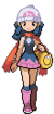 Dawn's intro sprite from Diamond and Pearl