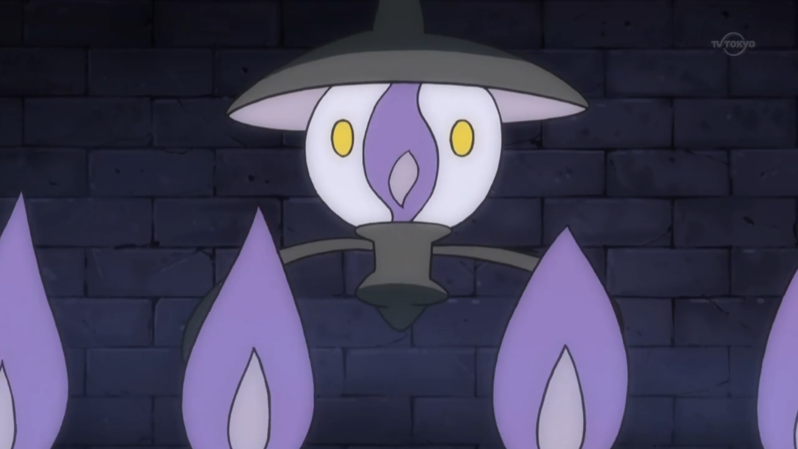 Pokemon Lampent Coloring Pages Images