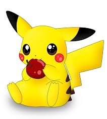 File:Pikachu With An Apple.png