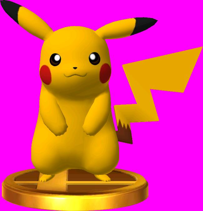 File:Pikachu trophy SSB3DS.png