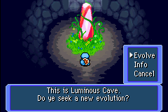 Squirtle in Luminous Cave