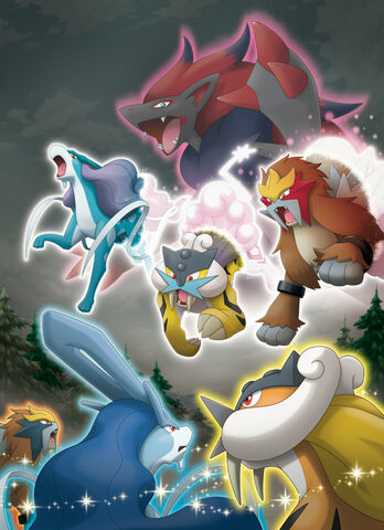 File:Legendary Trios and Zoroark - Pokemon Black and White.jpg