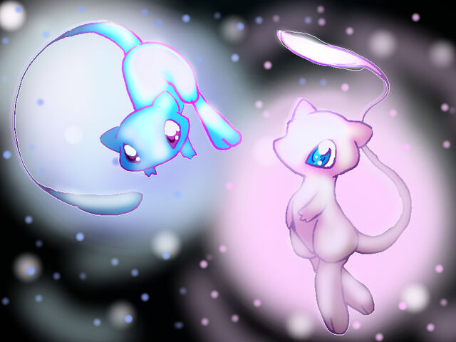 File:Shiny Mew and Mew.jpg