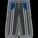 Pants F Grey Stripe Blue