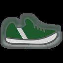 Shoes M Green Stripe