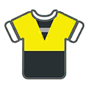 Shirt F Yellow Black