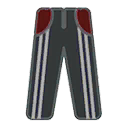 Pants F Grey Stripe Red