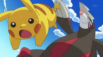 File:Pikachu and Excadrill.jpg