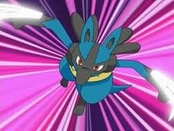 Lucario Using Metal Claw