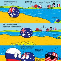 Australia is popular due to his high quantity of Uranium