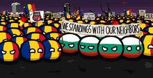 Bulgaria helps Romania in protest