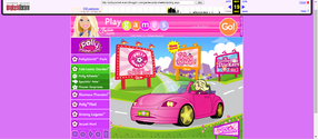 Polly Pocket website 2007 Polly Wheels screen