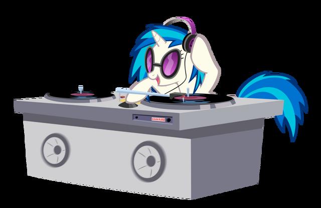 File:Vinyl with headphones by ponydude186-d57dju4.png