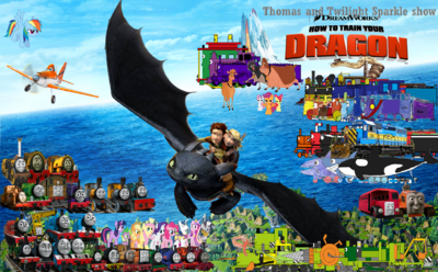 Thomas and Twilight show How to Train Your Dragon