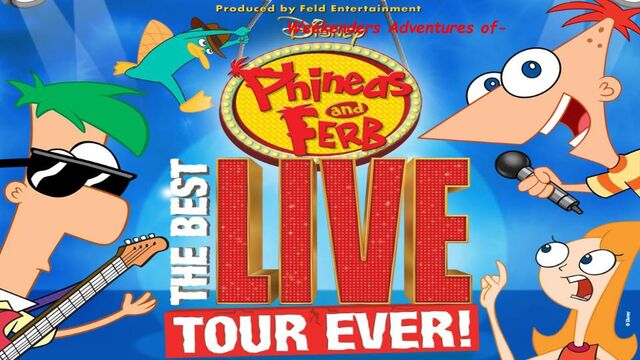 File:Weekenders Adventures of Phineas and Ferb- THE BEST LIVE TOUR EVER! Poster.jpg