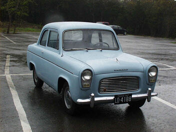 The Ford Flying Anglia on the road