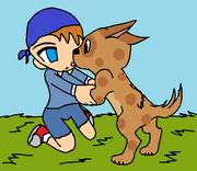 Akito and Scruffy by dimegod217