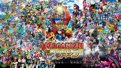 Team Robot in Pokemon Movie 19 Volcanion and the Mechanical Marvel Poster (Remake 2)