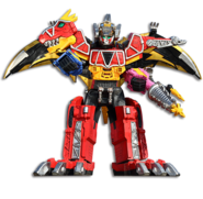 Dino Charge Megazord Tri Stego Ptera Formation