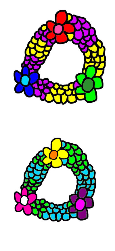 Two Flower Wreaths