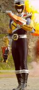 Dino Charge Black Ranger in Armor X