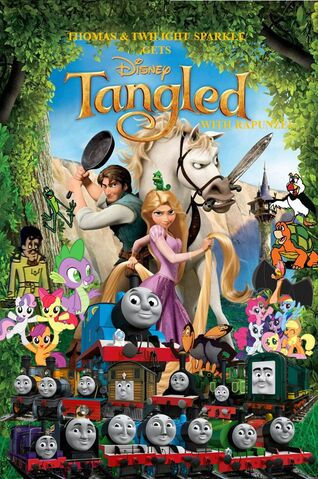 File:Thomas and Twilight Sparkle gets Tangled with Rapunzel poster 2.jpg