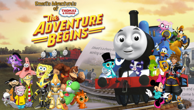 File:Emerl's Adventures of Thomas & Friends The Adventure Begins Poster.png