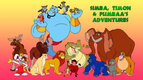 Simba, Timon and Pumbaa's Adventures Wallpaper