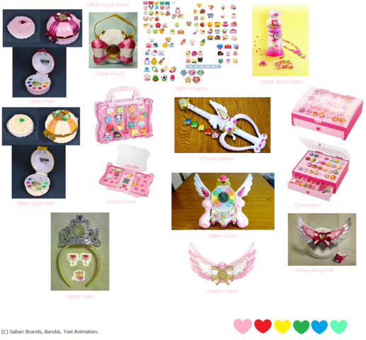 File:Glitter Force Items.png