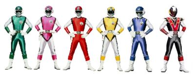Six sonic rangers