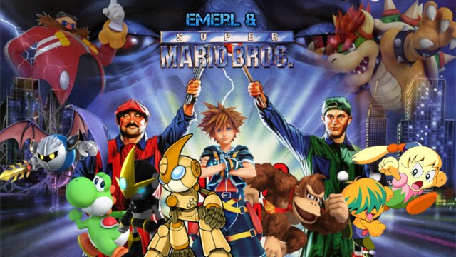 File:Emerl & The Super Mario Bros Poster.png