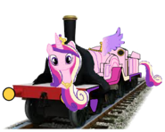 MLP Princess Cadance as a Thomas and friends character