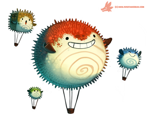File:Daily paint 1085 pufferfish air balloons by cryptid creations-d9g9rcq.png