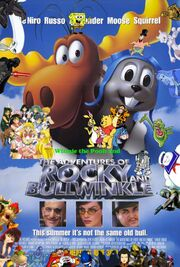 Winnie the Pooh and The Adventures of Rocky and Bullwinkle Poster Version 2
