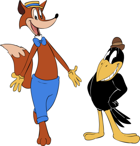 File:Fauntleroy fox and crawford crow by classicsaredead-d8b2nm4.png