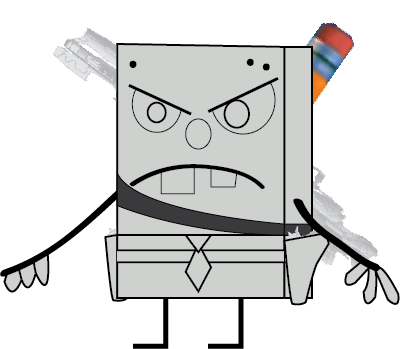 File:DoodleBob (with his weapons).png