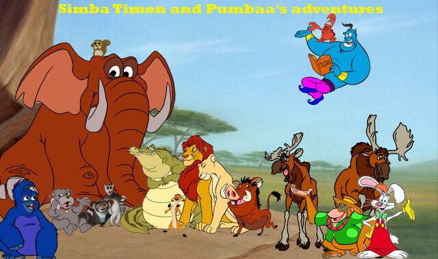 File:Simba Timon and Pumbaa's adventures poster 1.jpg