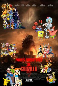 Pooh's Adventures of Godzilla (2014) Poster