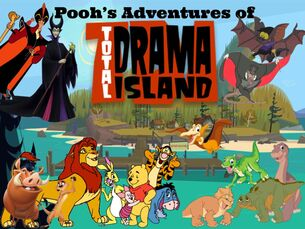 Pooh's Adventures of Total Drama Island Poster (Remake)