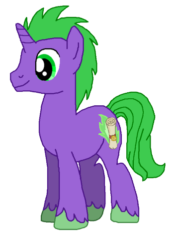 File:Spike as a Unicorn.png