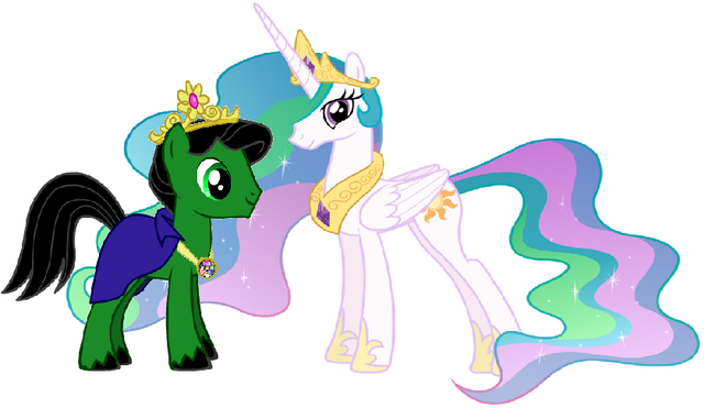 File:Duck and Princess Celestia.png
