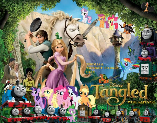File:Thomas and Twilight Sparkle gets Tangled with Rapunzel poster.jpg